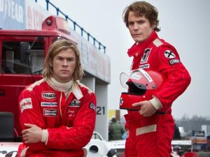Chris Hemsworth and Daniel Brühl in Ron Howard's Rush