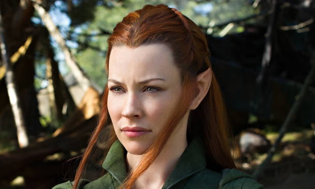 Evangeline Lilly as Tauriel in The Hobbit: The Battle of the Five Armies